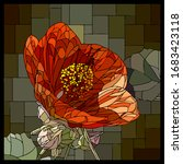 vector square mosaic with... | Shutterstock .eps vector #1683423118