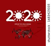 spread the corona covid virus... | Shutterstock .eps vector #1683425035