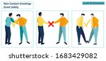alternative safe greetings to...   Shutterstock .eps vector #1683429082