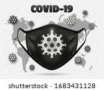 monochrome color coronavirus... | Shutterstock .eps vector #1683431128