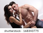 happy young couple  | Shutterstock . vector #168343775