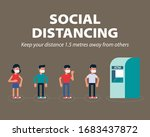 social distancing  keep the...   Shutterstock .eps vector #1683437872