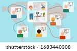 distance learning.... | Shutterstock .eps vector #1683440308