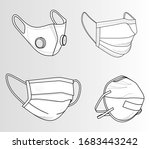safety breathing masks.... | Shutterstock .eps vector #1683443242