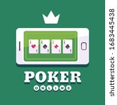 smartphone with playing cards... | Shutterstock .eps vector #1683445438