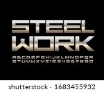 vector techno logo steel work... | Shutterstock .eps vector #1683455932