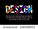 modern style font  vibrant... | Shutterstock .eps vector #1683488932