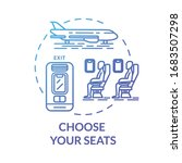choose your seats concept icon. ... | Shutterstock .eps vector #1683507298