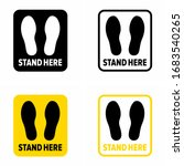 """""""stand here"""" and keep the... 