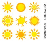 sun set collection in yellow... | Shutterstock .eps vector #1683562855