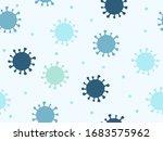 coronavirus seamless pattern... | Shutterstock .eps vector #1683575962