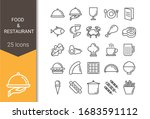 food and restaurant icon set... | Shutterstock .eps vector #1683591112