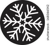 christmas snowflake   Shutterstock .eps vector #168366542