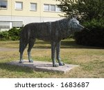 Statue Of A Wolf