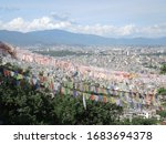 lamdscape at Nepal town view mountain