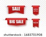 new big mega sale tags. vector... | Shutterstock .eps vector #1683701908