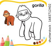 Gorilla Cartoon   Coloring For...