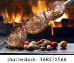 picanha  traditional brazilian... | Shutterstock . vector #168372566