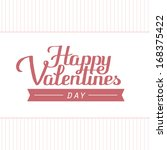 happy valentines day | Shutterstock .eps vector #168375422