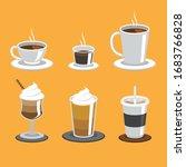 set of coffee cups. coffee menu ... | Shutterstock .eps vector #1683766828