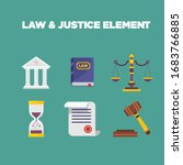 law element set isolated vector ...   Shutterstock .eps vector #1683766885