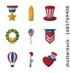 flat style icon set design ...   Shutterstock .eps vector #1683769408