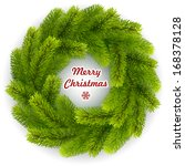 christmas wreath isolated on... | Shutterstock .eps vector #168378128