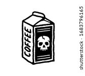 coffee pack with skull black... | Shutterstock .eps vector #1683796165