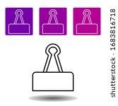 binder clip icon. simple...