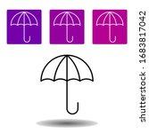 umbrella icon. simple outline...