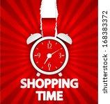 shopping time poster design... | Shutterstock .eps vector #168383372