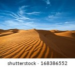 desert of north africa  sandy... | Shutterstock . vector #168386552