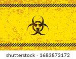 dangerous area with bio hazard... | Shutterstock .eps vector #1683873172