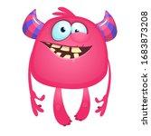 funny cartoon monster.... | Shutterstock . vector #1683873208