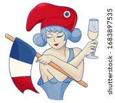 marianne  symbol of france with ... | Shutterstock .eps vector #1683897535