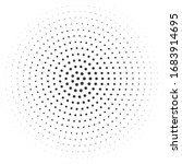 halftone corona virus vector... | Shutterstock .eps vector #1683914695