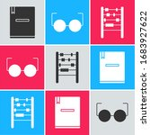 set notebook  glasses and... | Shutterstock .eps vector #1683927622