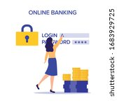 internet safety. account...   Shutterstock .eps vector #1683929725