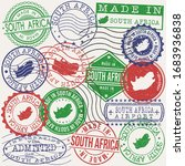 south africa set of stamps.... | Shutterstock .eps vector #1683936838