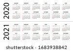 calendar 2020 2021  ... | Shutterstock .eps vector #1683938842