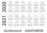 calendar 2020 2021  ... | Shutterstock .eps vector #1683938848