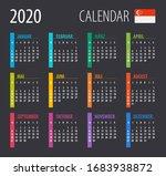 2020 calendar   vector... | Shutterstock .eps vector #1683938872