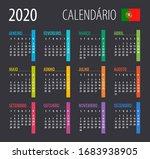 2020 calendar   vector... | Shutterstock .eps vector #1683938905