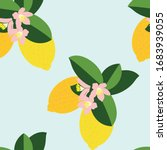 seamless pattern of lemons... | Shutterstock .eps vector #1683939055