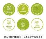 set flat vegan icon on white... | Shutterstock .eps vector #1683940855