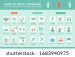 guide to social distancing... | Shutterstock .eps vector #1683940975