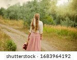 Young Blonde Woman With Long...