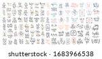 set of 100 hand lettering... | Shutterstock . vector #1683966538