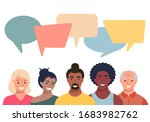 people avatars with speach... | Shutterstock .eps vector #1683982762
