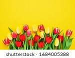 bouquet of red and yellow... | Shutterstock . vector #1684005388